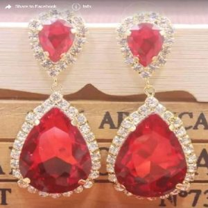 Red Earing Necklace